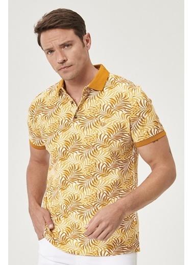 Beymen Business Slim Fit Baskılı Tişört 4B4820200013 Sarı